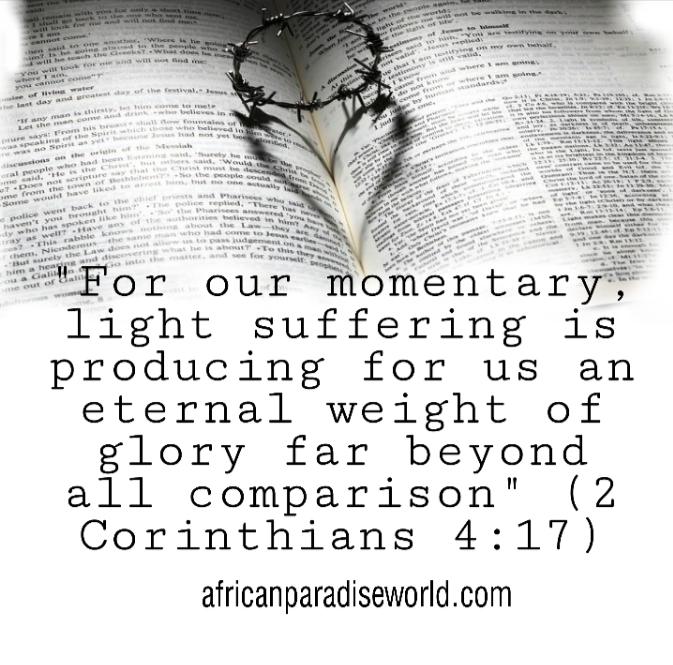 Bible verse from 2 Corinthians 4:17