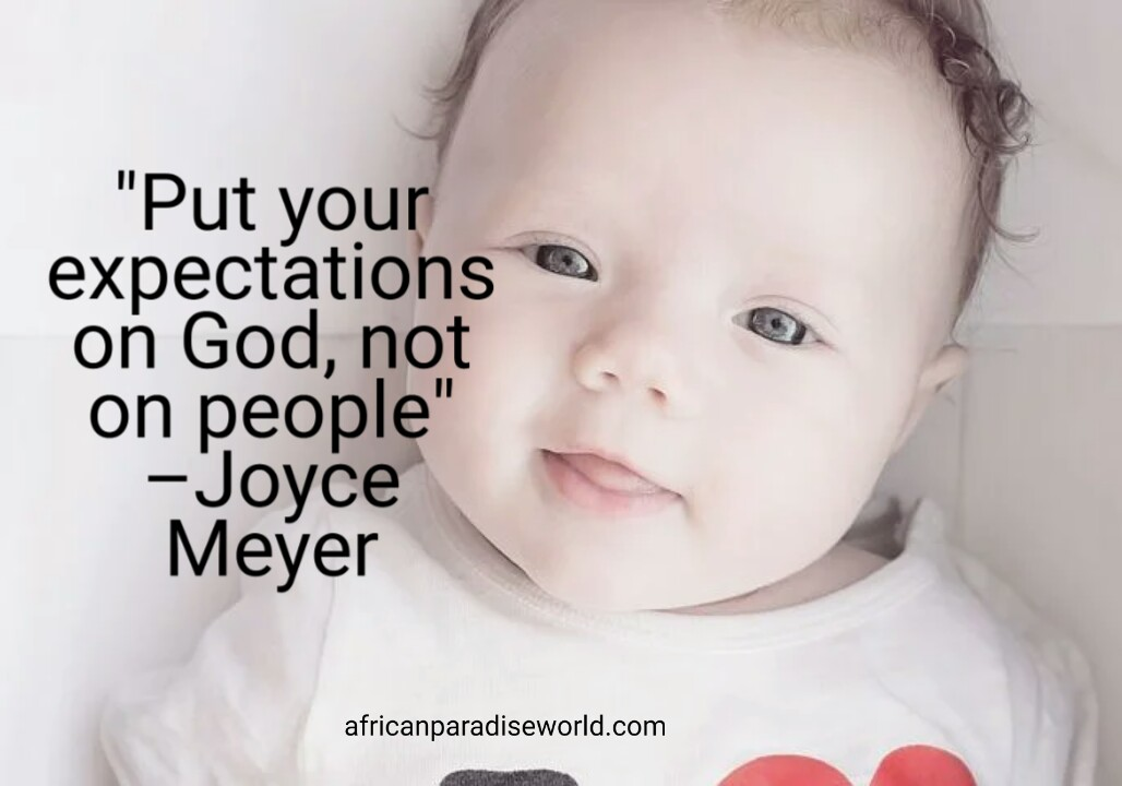 Expectation saying from Joyce Meyer