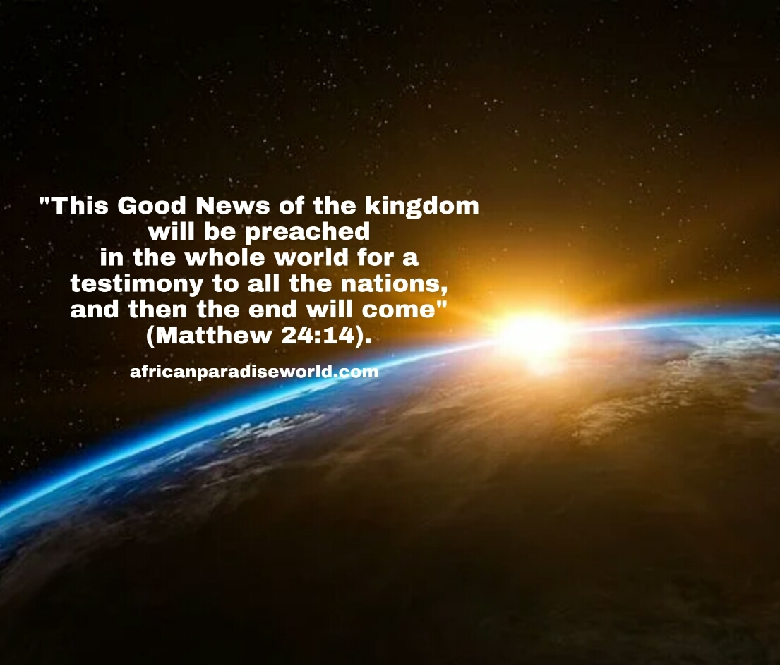 Good news Bible verses about the world