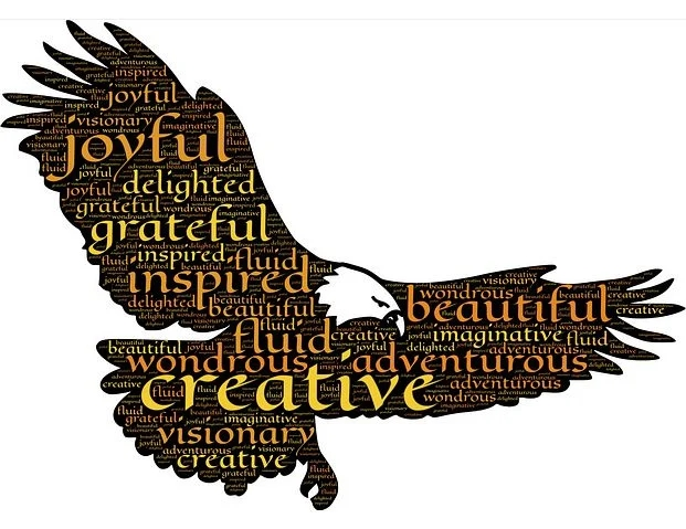 Creative messages with Eagle photo