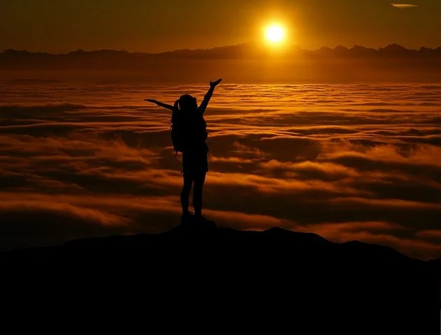 A lady admiring sunset