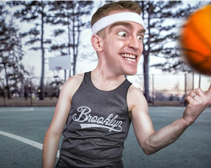 A man growing inner strength for basketball