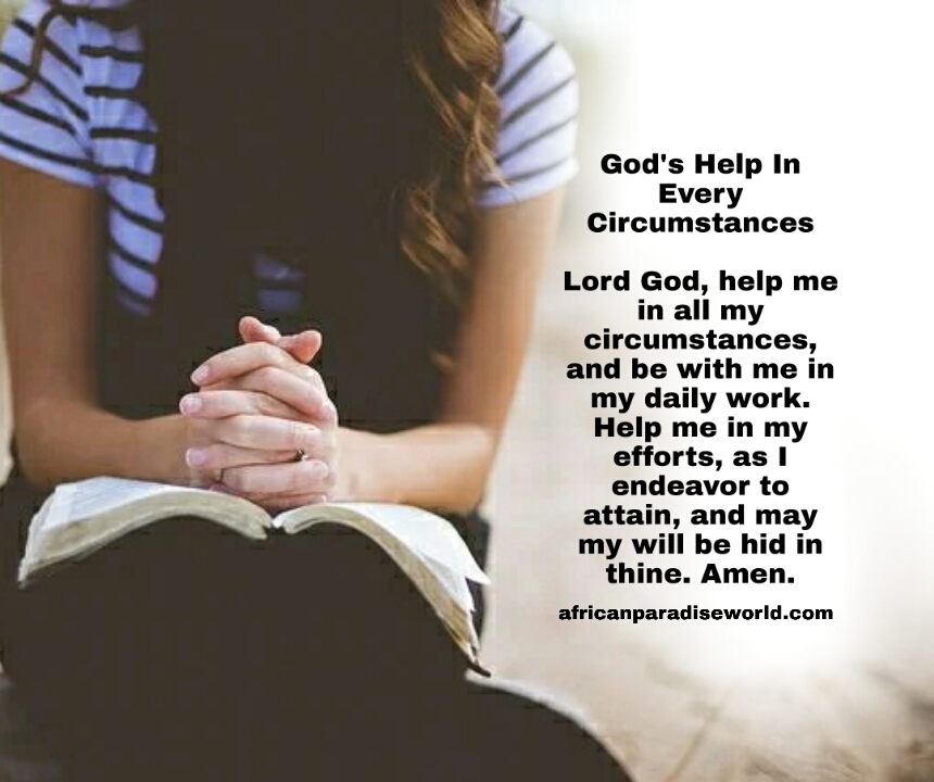 Prayer for today about any circumstances