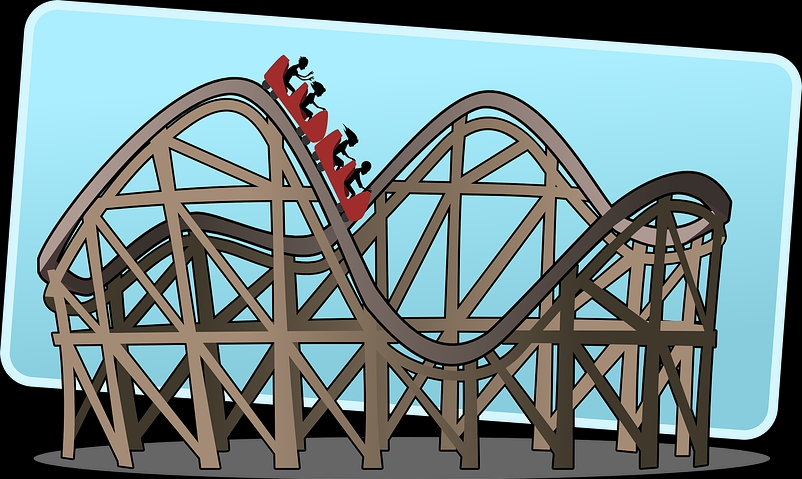 Roller coaster about life's ups and downs
