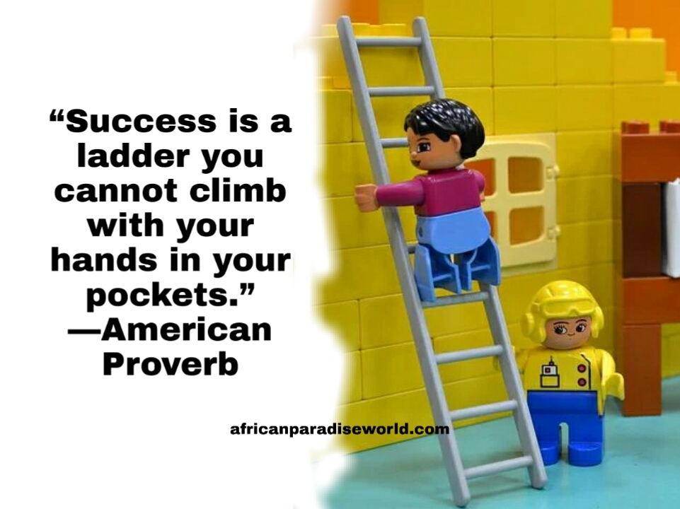 American Proverb about success is a ladder