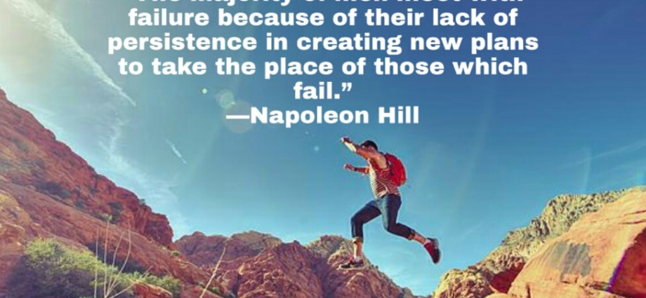 Inspirational quote about failure from Napoleon Hill