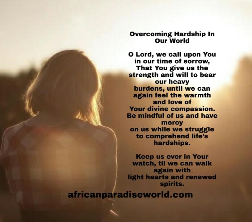 Prayer to overcome hardship