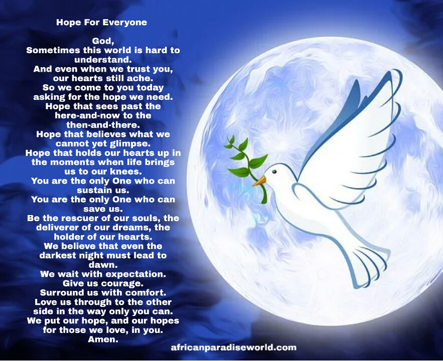 Prayer for the world to give hope