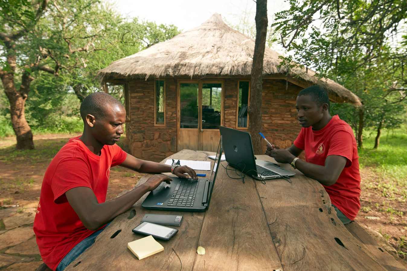 Staff office at the Noloholo Environmental Center