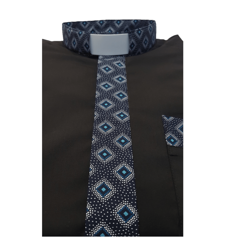 MENS CONTRAST CLERICAL SHIRT