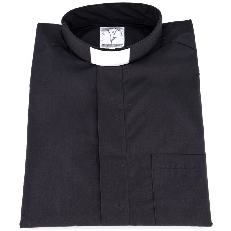 Men's Plain Clerical Shirt