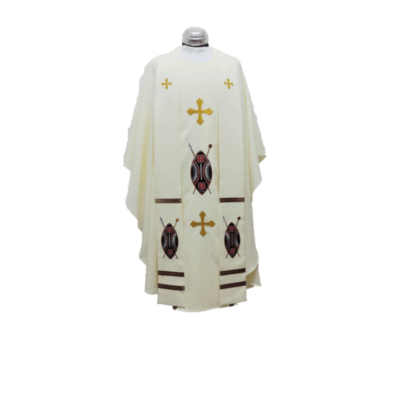 Chasuble & Stole African Shield
