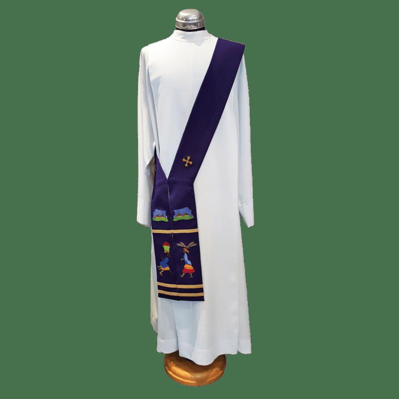 Reversible Deacon Stole Purple/Green