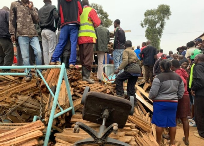 Several school kids tcollapsed classroom in Nairobi