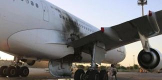 Tripoli only functional airport shutdown after being hit