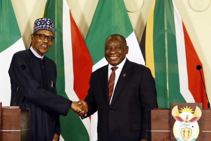 Buhari in S/Africa call for protection for foreign nationals