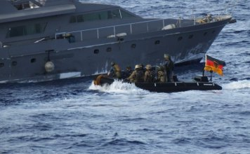 German warship intercept and searches Libya-bound Turkish freighter