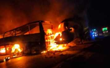 20 killed in Egypt as bus catches fire after hitting a truck