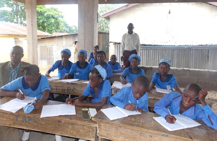 Waterloo School in Sierra Leone Nearing Completion