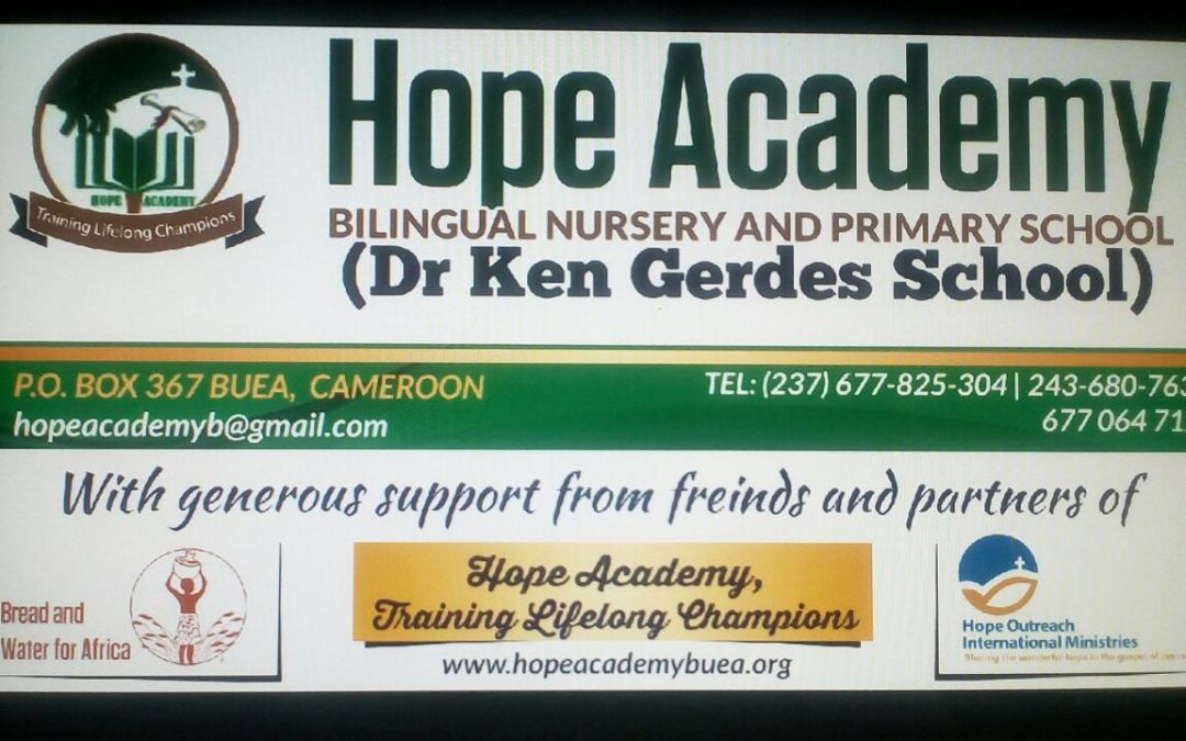 The Construction of the Dr. Kenneth Gerdes Primary School (Cameroon) is Complete!