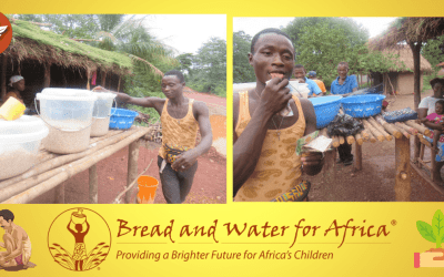Young Alusine Selling Surplus Rice in the Sierra Leonean Community He Loves Thanks to the Supporters of Bread and Water for Africa®