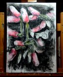 Radishes in watercolor and charcoal 3251x3976