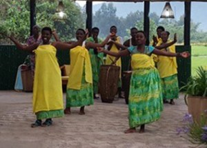 Drum Ceremony at Gorilla Mountain View Lodge, Rwanda