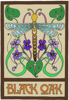Black Oak Violets logo