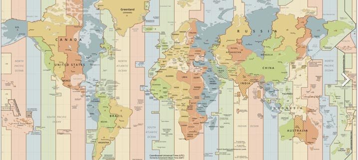 Time Zone Map 1
