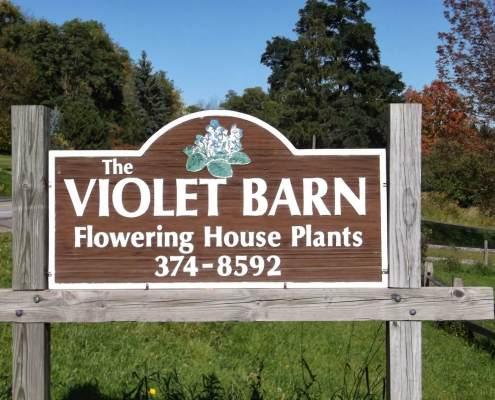 Violet Barn Signage