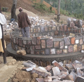 Construction of the Rwandan well