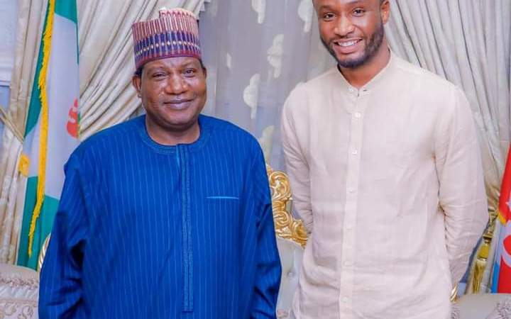 Mikel Obi Visits Gov. Lalong, Promises Investments In Plateau, To Estab. Football Academy