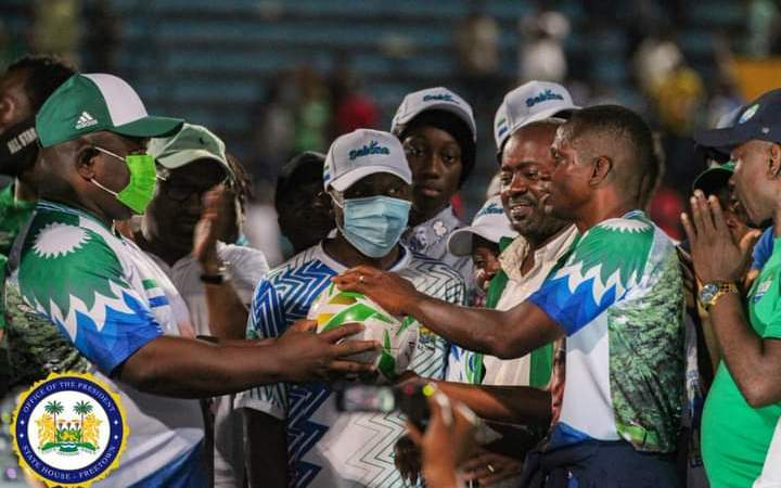 Africa Cup of Nations Qualifier: President Bio Welcomes Country's National Football Team