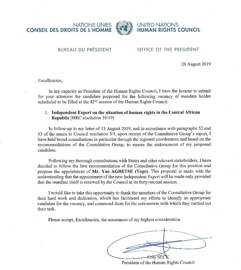 nomination Agbetse Qui est Yao Agbetsè, le Togolais qui séduit les Nations-Unies