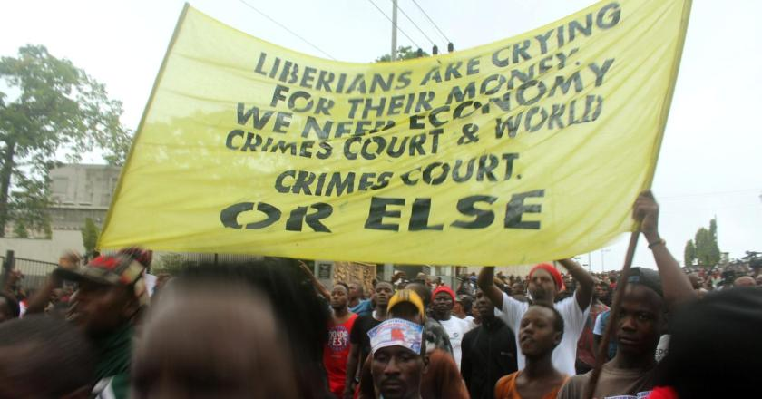 Liberia has blocked social media as protesters demand the return of missing millions