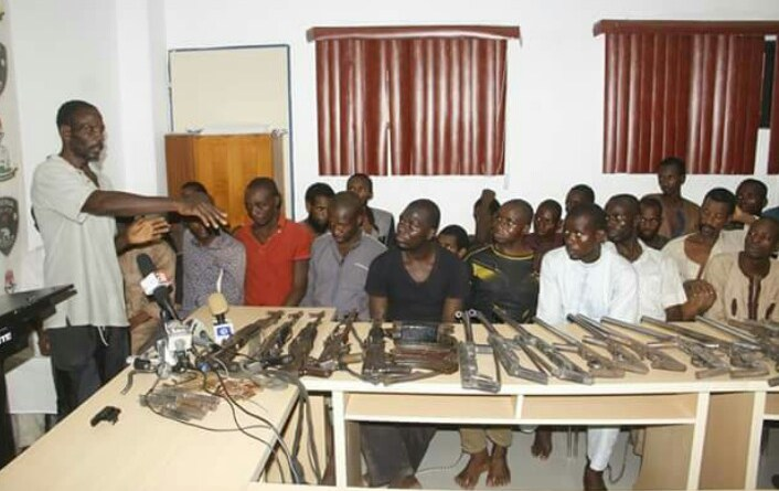 Over 20 Armed Robbers, Kidnap Gang Paraded by Police (PHOTOS)