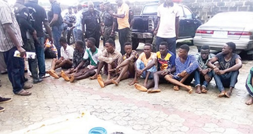 leader of the highlanders,others arrested for cult activities,Armed robbery in Bayelsa