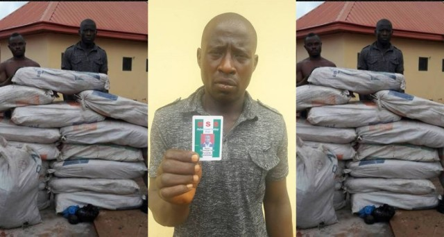 Former DSS Official caught with bags of Marijuana in Enugu