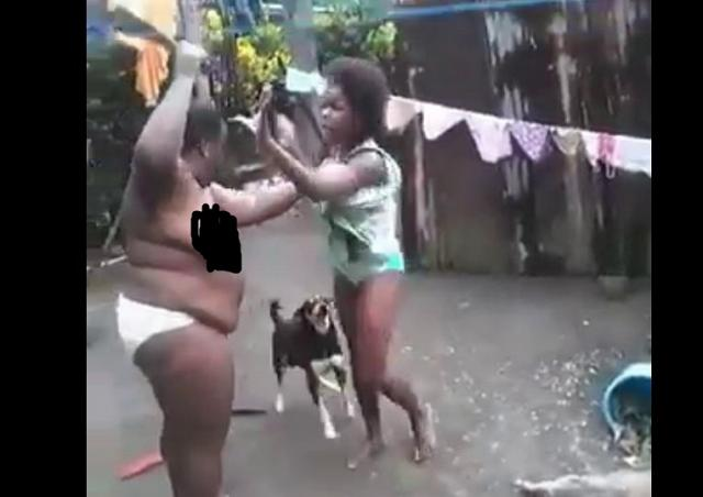 Mother strips naked, use cutlass on daughter