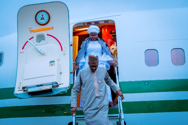 UNGA73: Buhari, Aisha Arrive New York
