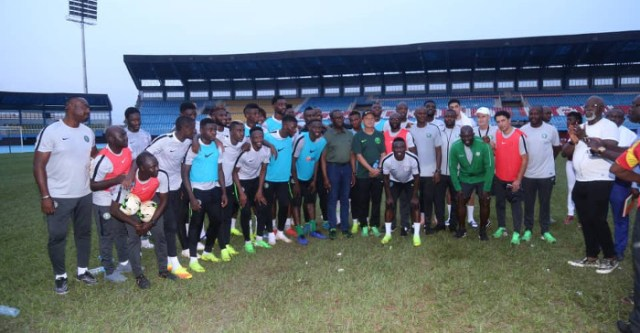 S/Eagles Players Thank Okowa For Incentive, Promise To Bring Down Bafana Bafana