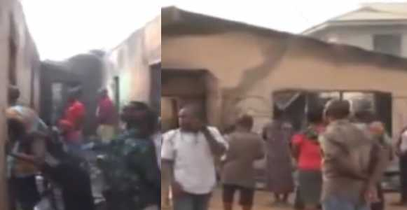 Tragic Christmas as family of three burnt to death in house fire in Benin (Photos)