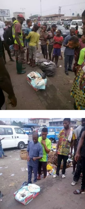 Shocking Baby abandoned at a Park in Rivers State