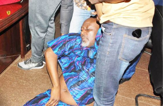 masked policemen whisk Dino Melaye away from hospital
