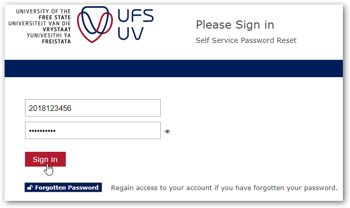ufs self service log in