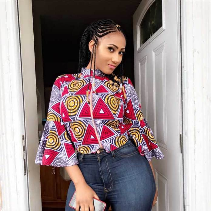 hajia for real african print top