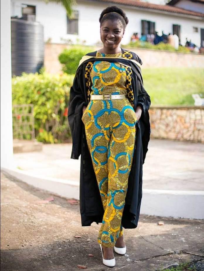 African print jumpsuit for graduation