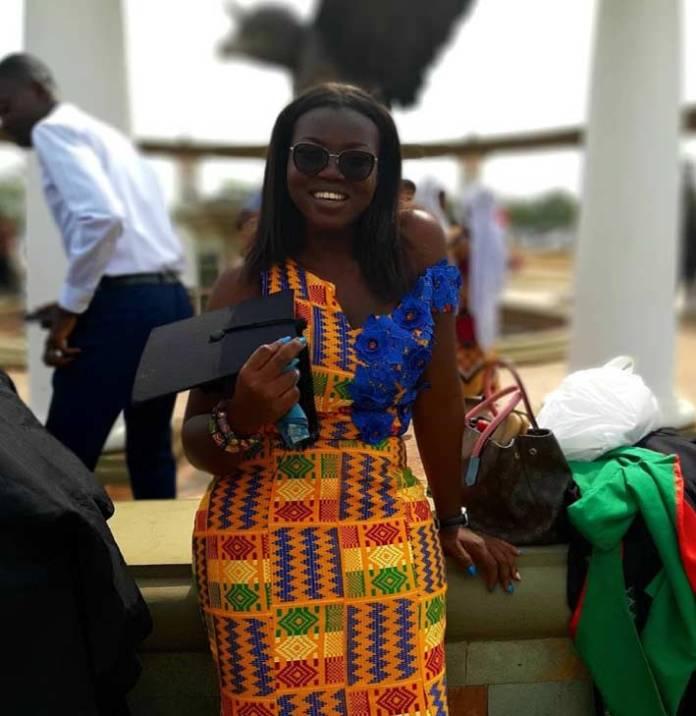 Beautiful kente graduation style dress