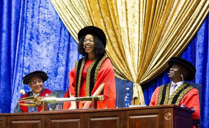 dr judy dlamini inaugurated as wits universitys new chancellor