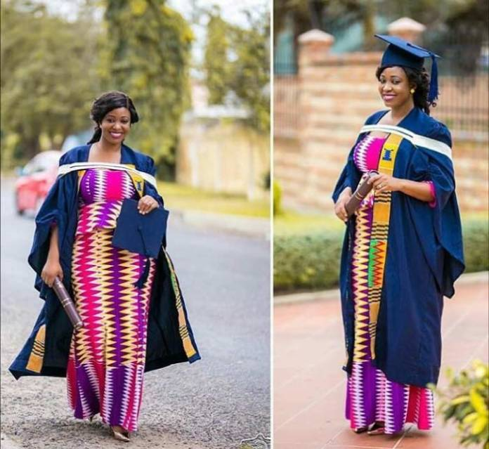 kente kaba and slit for graduation